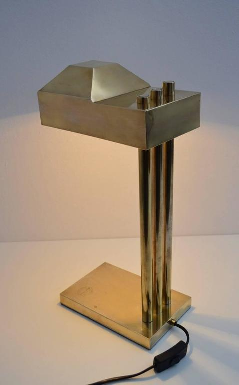 Bauhaus Brass Desk Or Table Lamp By Marcel Breuer, 1925, Marked 3