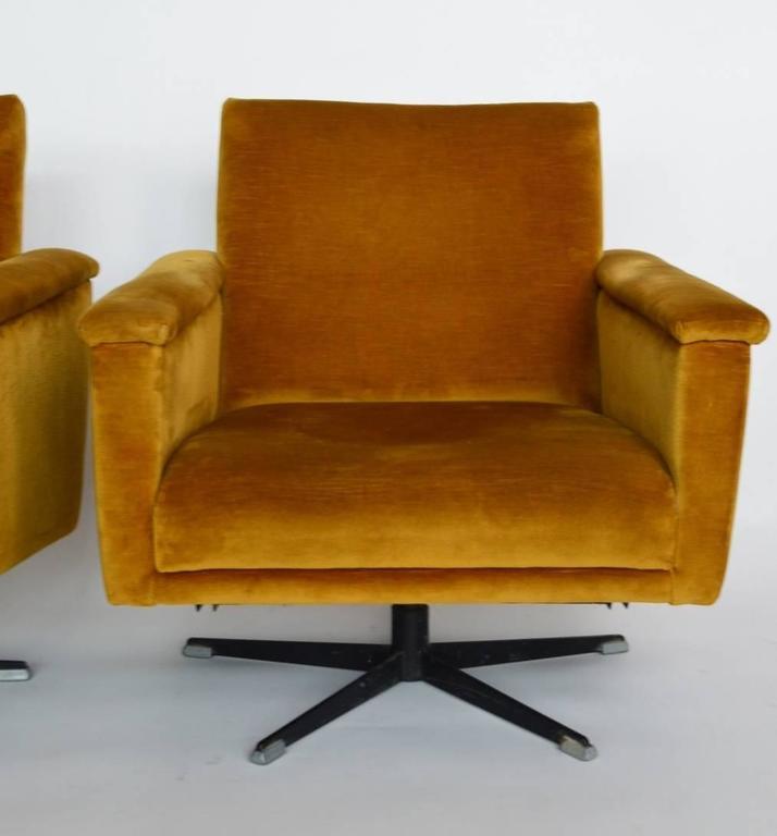 beautiful swivel club chairs | Swiss Mid-Century Men's Swivel Club Chairs or Lounge ...