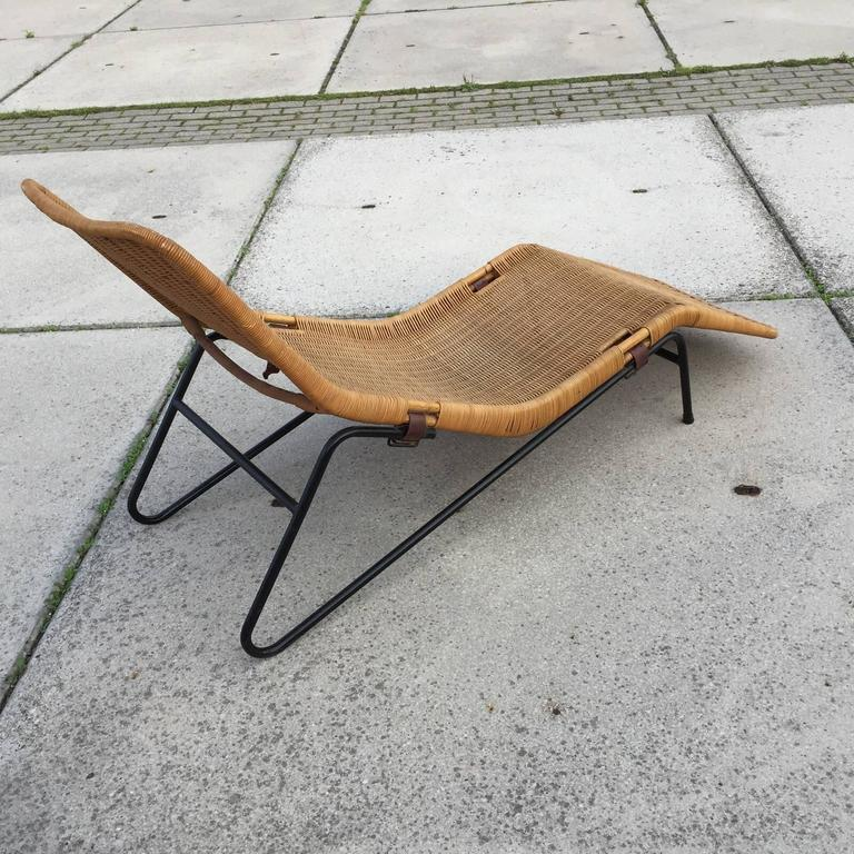 Dirk van sliedregt chaise longue in cane at 1stdibs for Cane chaise longue
