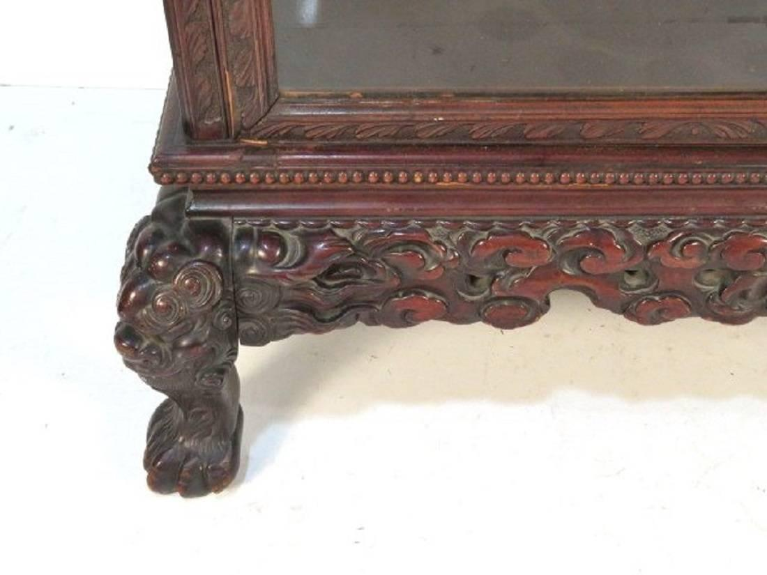 Antique chinese figural carved curio cabinet at 1stdibs for Oriental furniture nj