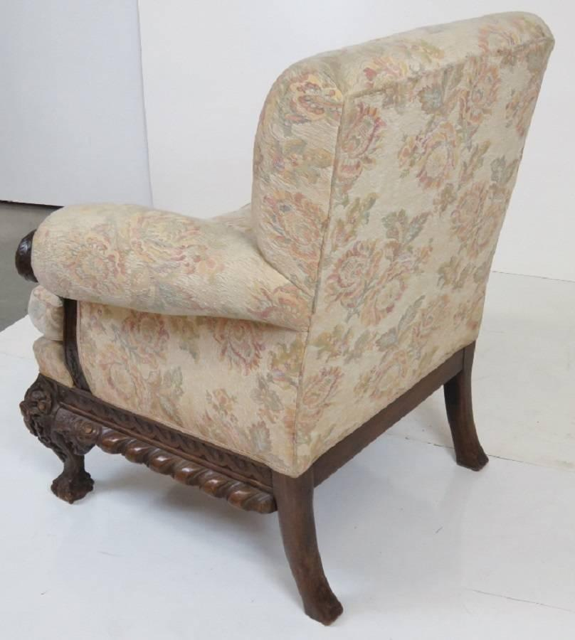 Antique georgian style parlor chair with swan heads for for Swan chairs for sale