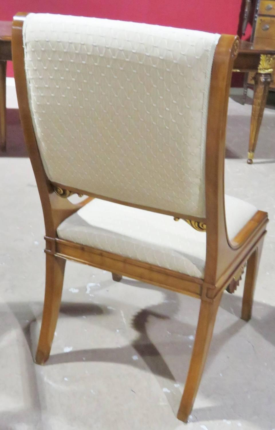 Ten regency style upholstered dining chairs for sale at for Upholstered dining chairs for sale