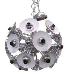 Italian Modern Chrome Sputnik Chandelier