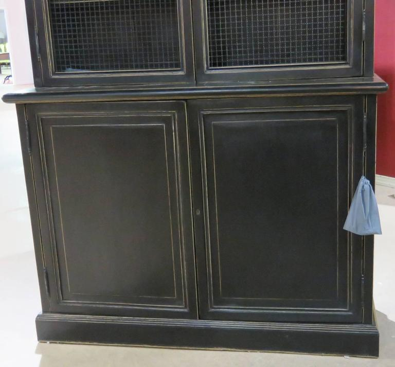 Pair Of Restoration Hardware Ebonized Bookcases At 1stdibs