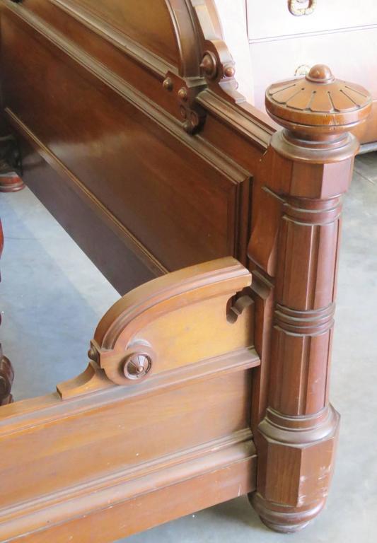 Three Piece Victorian Walnut Marble Top Bedroom Set Mann