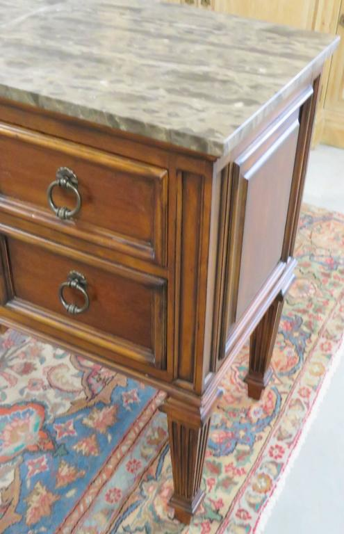 Pair Of Ethan Allen Marble Top Commodes For Sale At 1stdibs