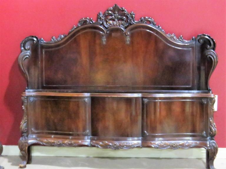 Six Pieces Louis XV Style Mahogany Bedroom Set For Sale At 1stdibs
