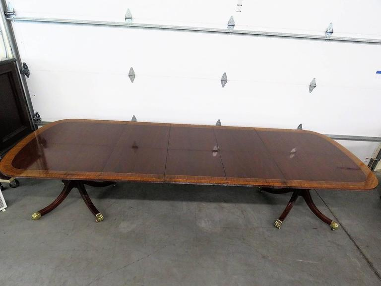 Councill Mahogany Banded Dining Table For Sale At 1stdibs
