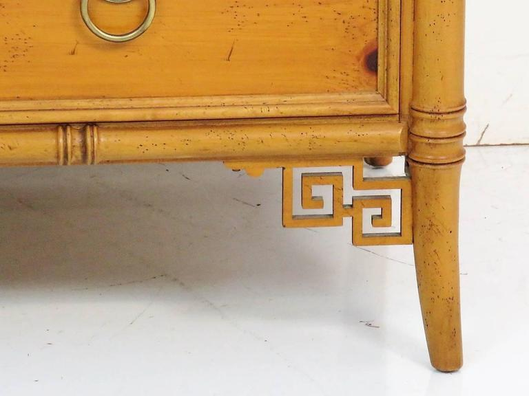Baker Asian Style Faux Bamboo Commode For Sale At 1stdibs