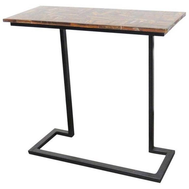 modern design metal base console for sale at 1stdibs. Black Bedroom Furniture Sets. Home Design Ideas