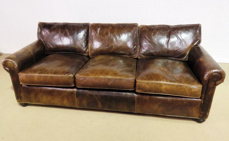 Distressed Leather Sofa Restoration Hardware Home Design Ideas