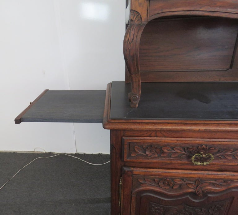 Glass Louis XV Style Normandy Cupboard For Sale