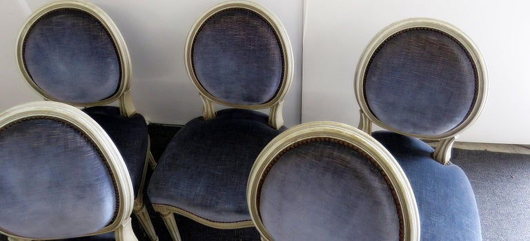 20th Century Set of 6 Louis XVI Style Dining Chairs For Sale