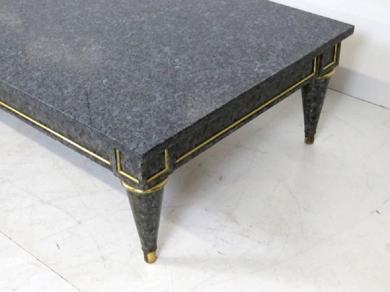 Jansen Style Faux Painted Marble Top Coffee Table For Sale At 1stdibs