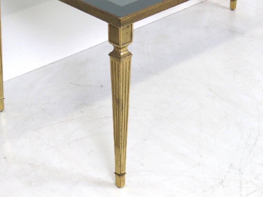 Louis Xvi Style Bronze Glass Top Coffee Table At 1stdibs