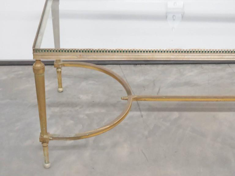 Glass top cocktail table empire directoire