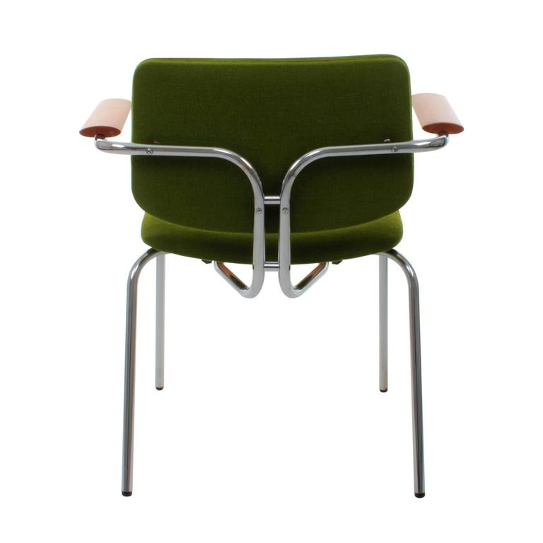 Danish Modernist Chair By Duba 1980s Vintage Dining Chair Grass Green For