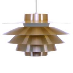 Verona, Brass Pendant by Sven Middelboe for Nordisk Solar Compagni, 1980s