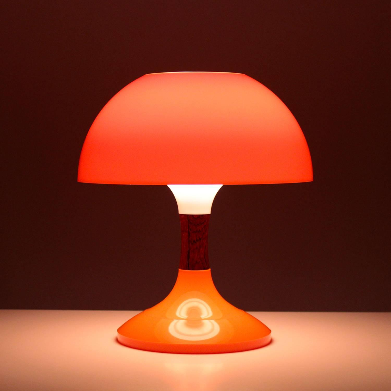 Karina Table Lamp Bent Karlby 1971 Mid Century Orange