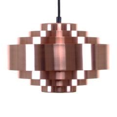 Ultra, Copper Pendant Light by Jo Hammerborg, 1963, Fog & Mørup