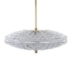 Orrefors Merkur, Crystal Ceiling Lighting by Lyfa/Orrefors, 1960s