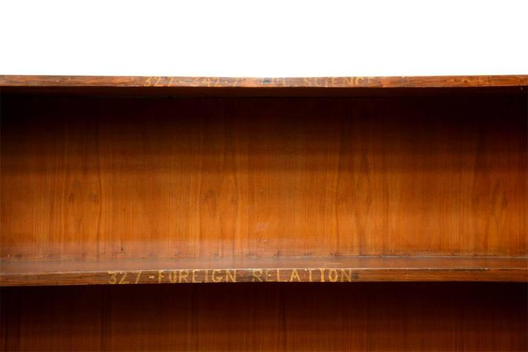 Pierre Jeanneret double sided bookcase from the Central State Library in Chandigarh, India.