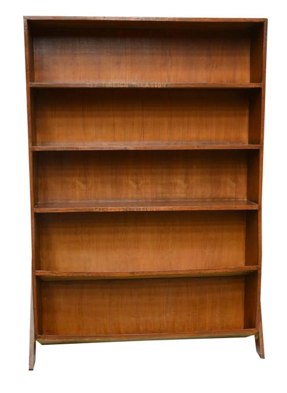 Indian Pierre Jeanneret Double Sided Bookcase For Sale
