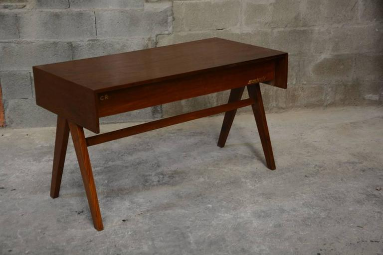 Mid-20th Century Pierre Jeanneret, Student Desk for Education Buildings in Chandigarh For Sale