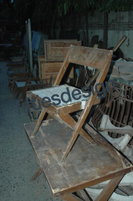 Pierre Jeanneret Unique Set of 12 Library Chairs 10