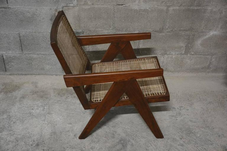 Indian Pierre Jeanneret  Easy Armchairs, circa 1955 For Sale