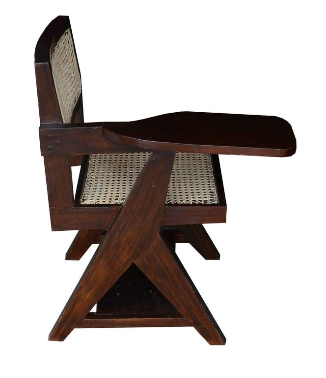Indian Pierre Jeanneret Writing Cane Chair For Sale