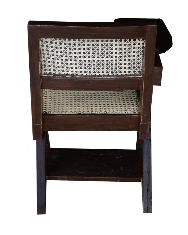Pierre Jeanneret Writing Cane Chair In Good Condition For Sale In BREST, FR
