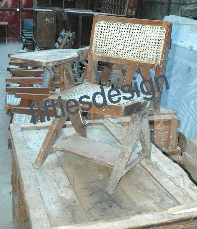Pierre Jeanneret Writing Cane Chair For Sale 1