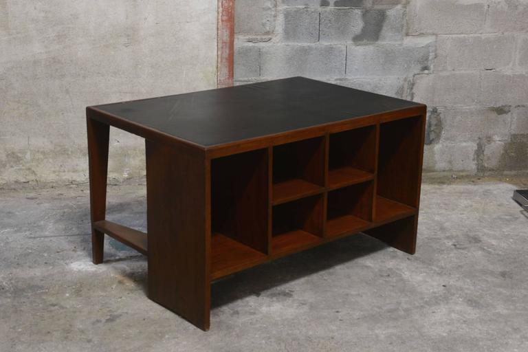 Pierre Jeanneret, office table for various administrative buildings in Chandigarh, India.
