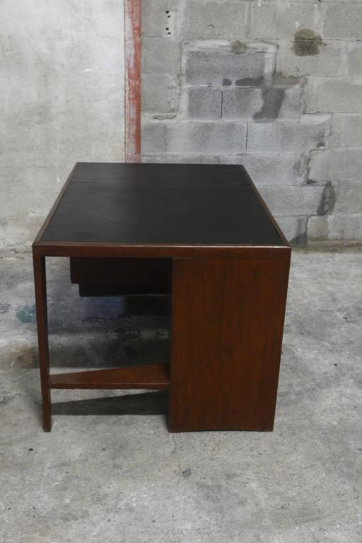 Pierre Jeanneret Office Desk In Good Condition For Sale In BREST, FR