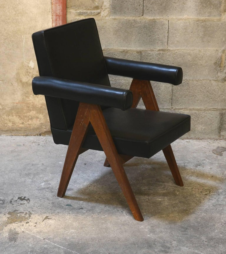 Indian Pierre Jeanneret Set of Two Senate Committee Chairs For Sale
