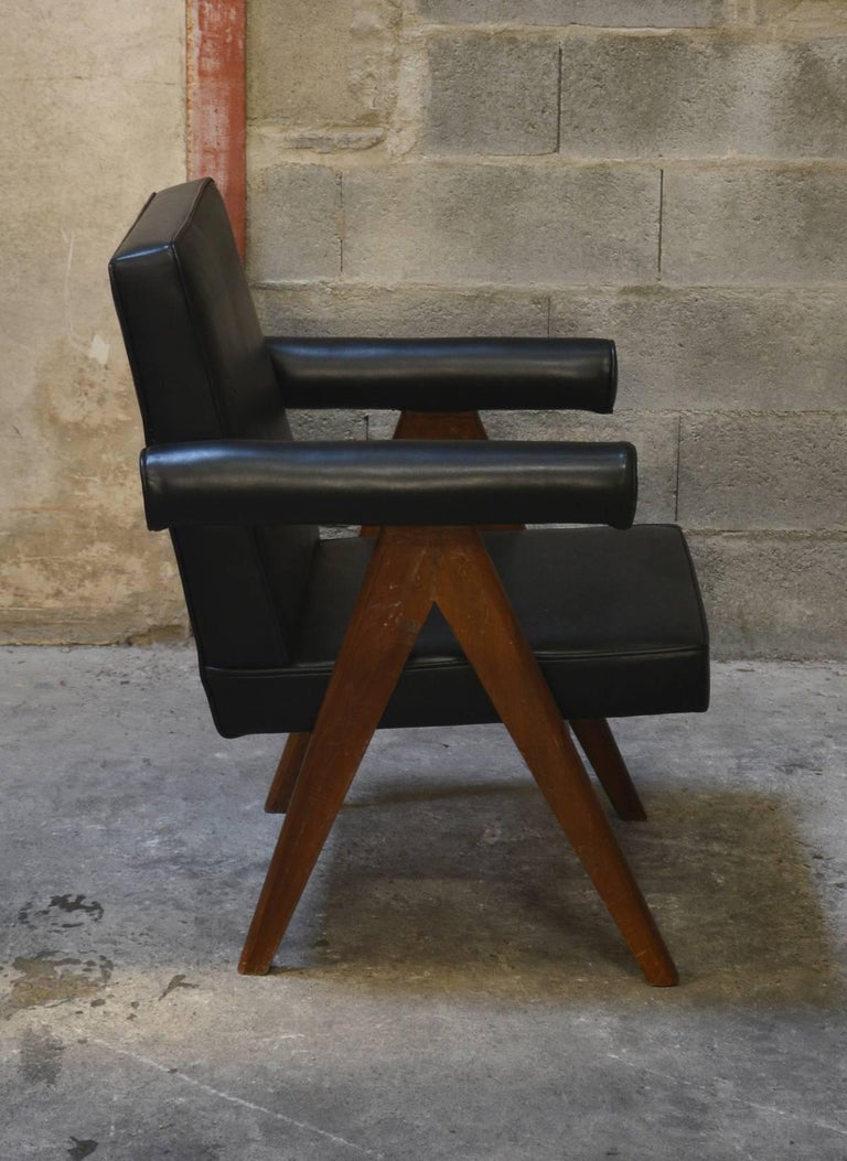 Mid-20th Century Pierre Jeanneret Set of Two Senate Committee Chairs For Sale