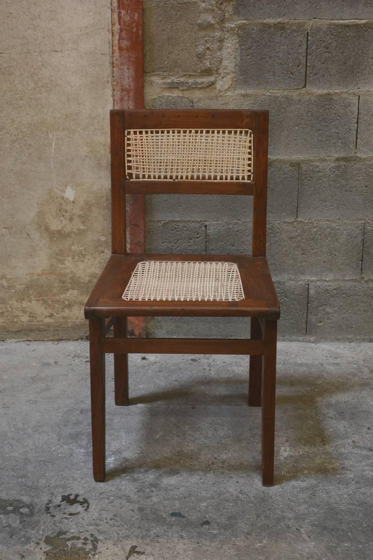 Pierre Jeanneret Chair from the Himalayan Hotel In Good Condition For Sale In BREST, FR