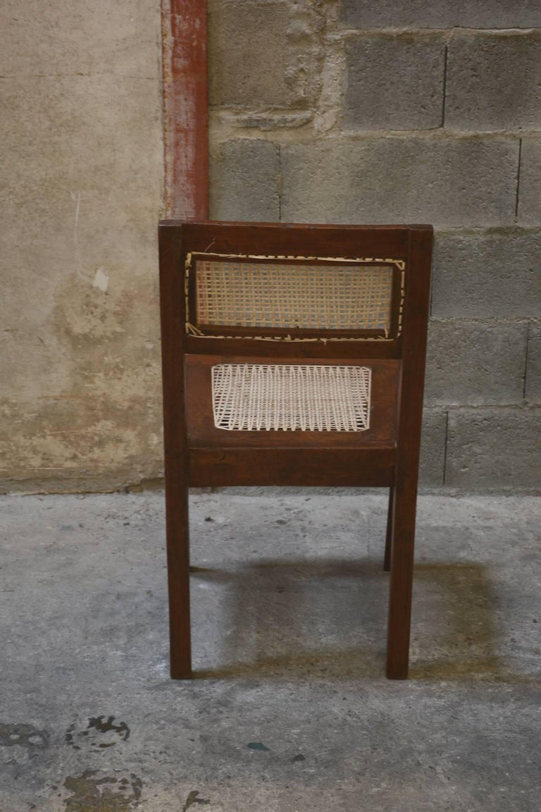 Teak Pierre Jeanneret Chair from the Himalayan Hotel For Sale