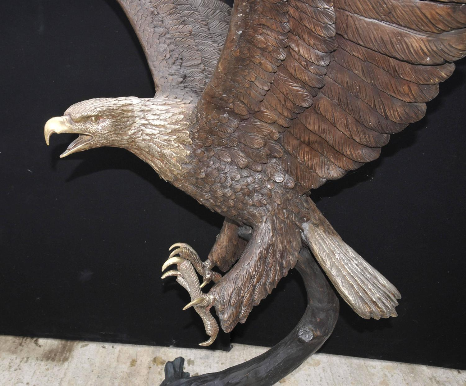Large Bronze Statue Of An American Bald Eagle For Sale At
