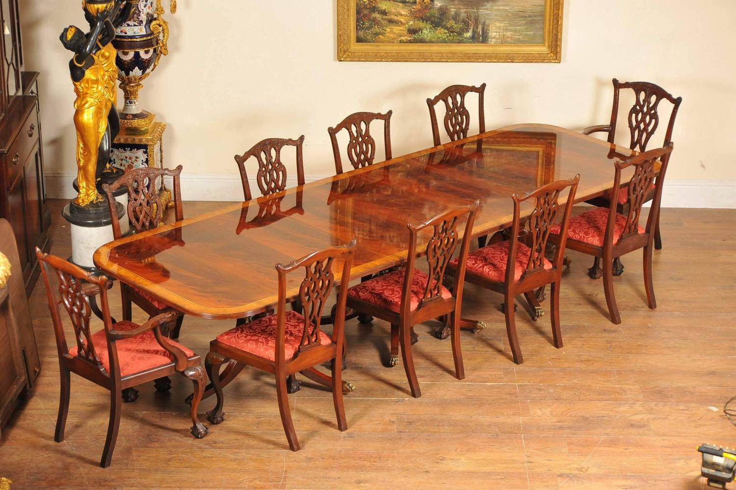 regency style dining set pedestal table and ten 1960s ole wanscher pj dining room set quot rungstedlund quot table