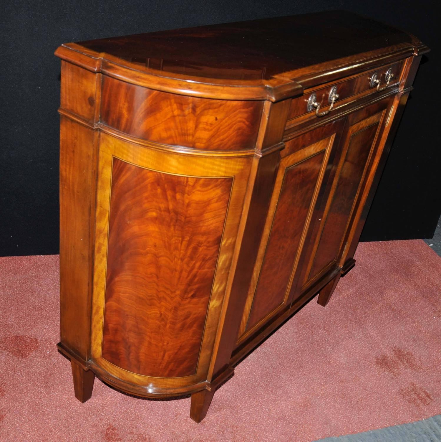 Regency Style Sideboard Flame Mahogany Satinwood Buffet