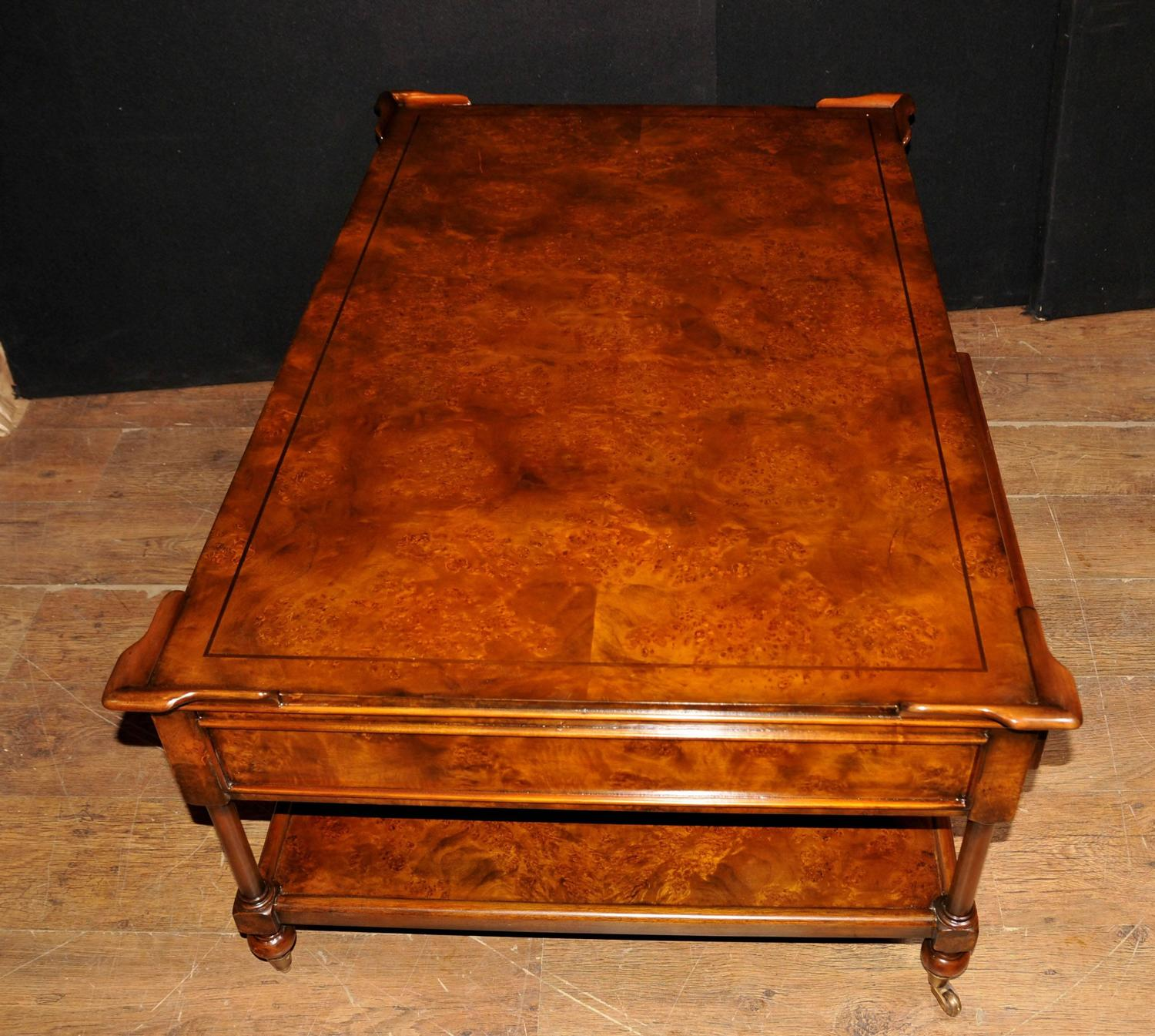 Regency Style Coffee Table Burr Walnut Tables For Sale at