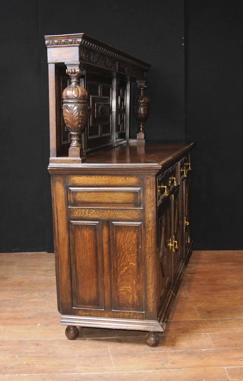 Oak Buffet Servers ~ Antique oak jacobean sideboard server buffet for sale at