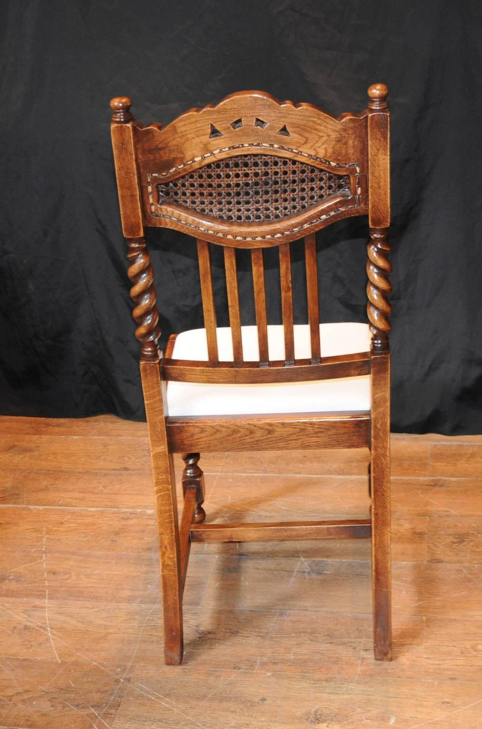 set of eight barley twist dining chairs kitchen farmhouse. Black Bedroom Furniture Sets. Home Design Ideas