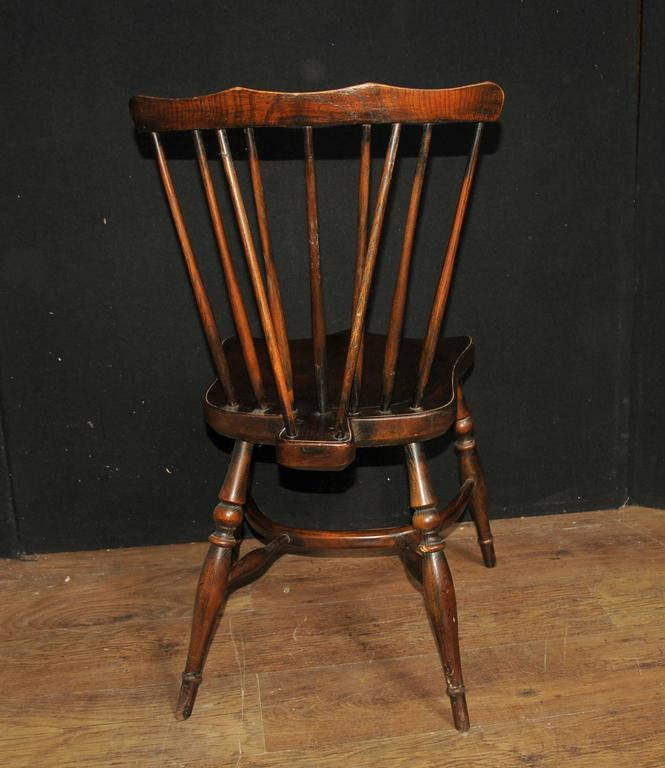 Set Of Eight Antique Oak Windsor Chairs 1920 Kitchen Dining Chair At 1stdibs