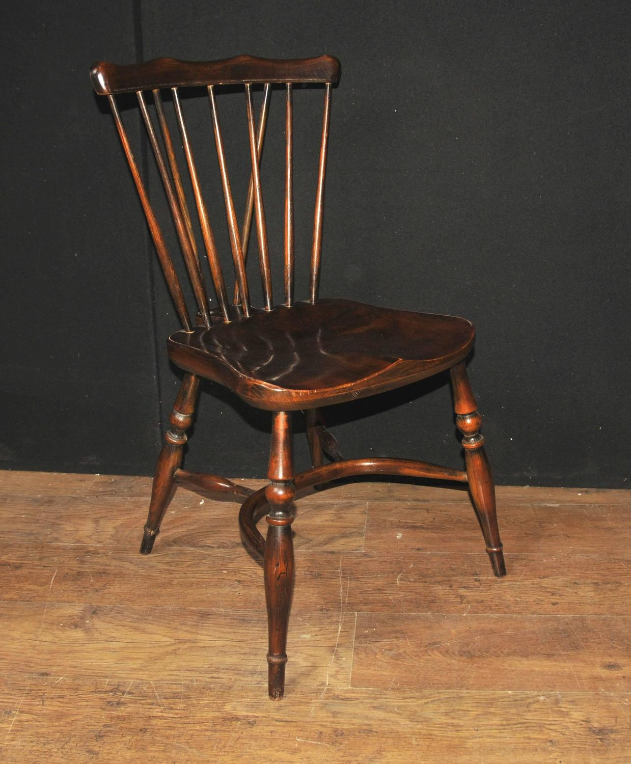 Antique Dining Room Chairs For Sale: Set Of Eight Antique Oak Windsor Chairs 1920 Kitchen