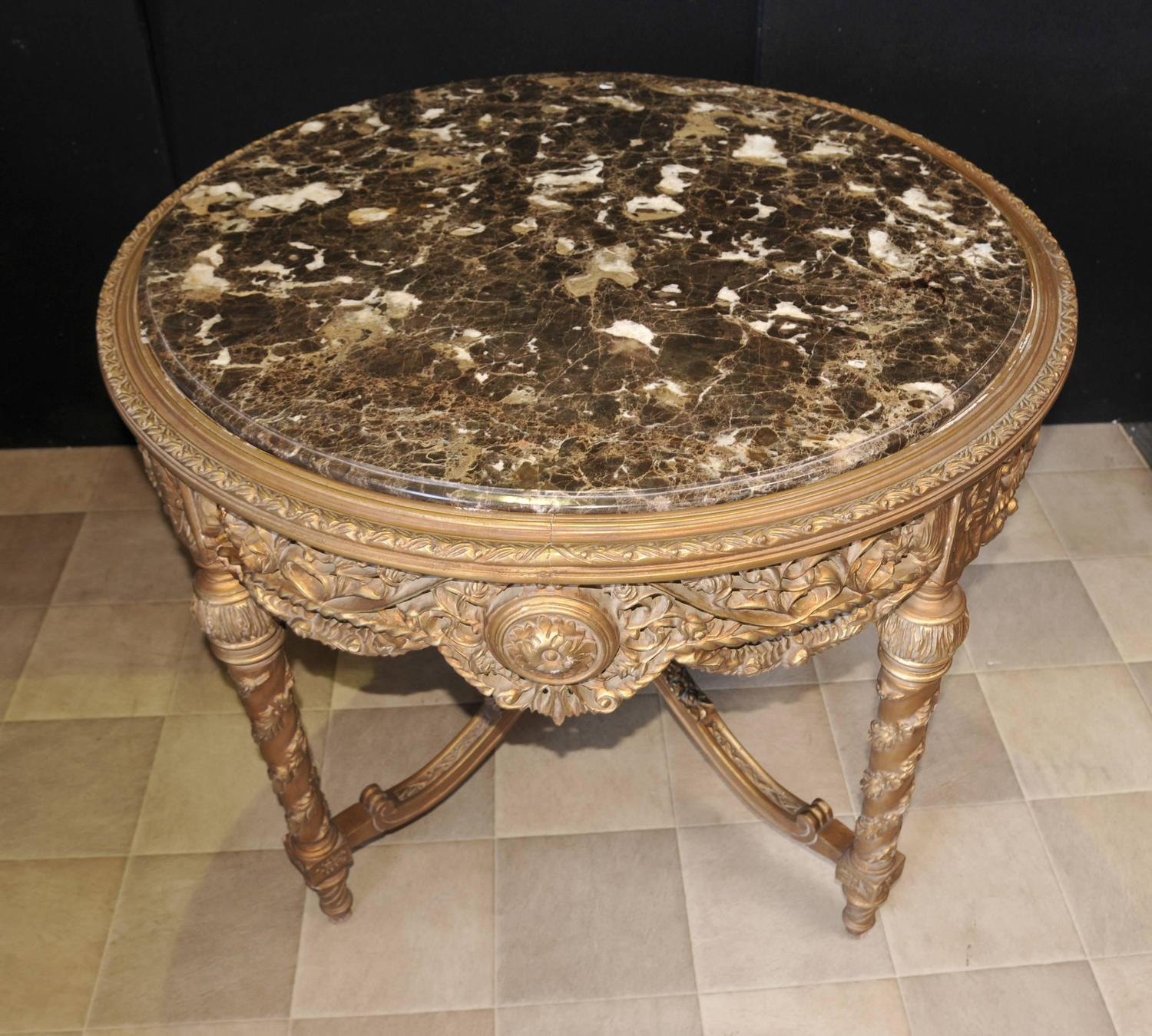 French Empire Gilt Carved Centre Table Center Dining Tables For Sale At 1stdibs