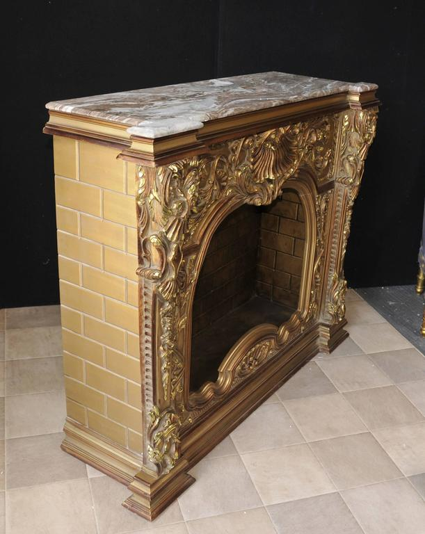 Carved French Louis Xvi Style Gilt Fireplace Mantle Fireplace For Sale At 1stdibs