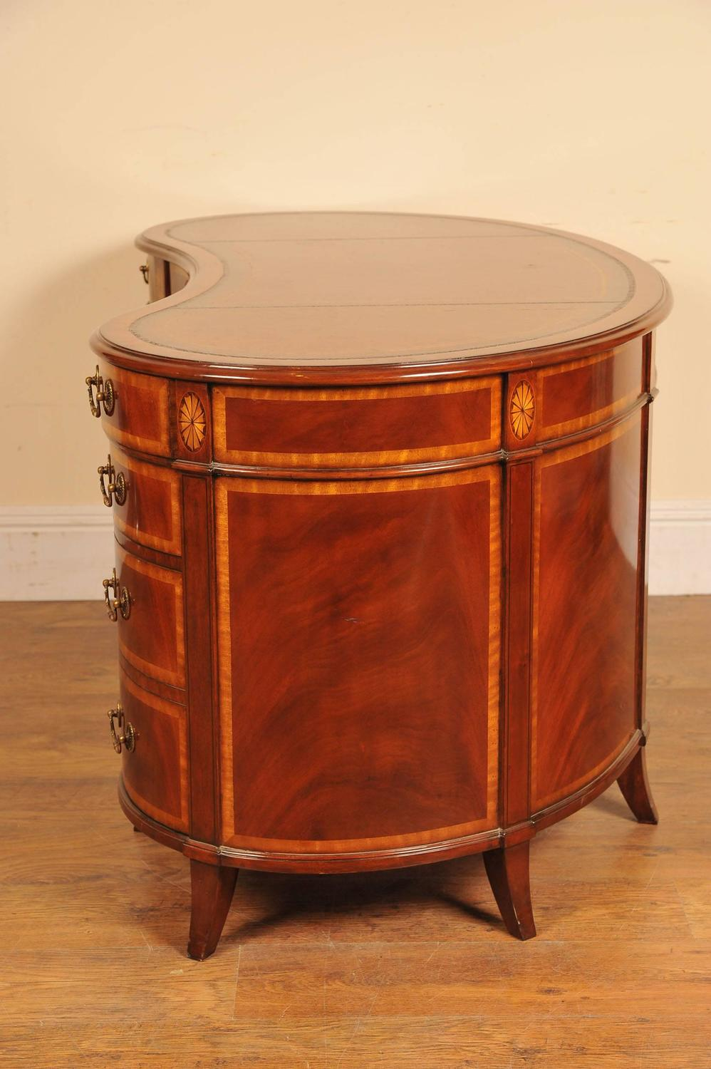 Regency Mahogany Kidney Desk Furniture For Sale at 1stdibs